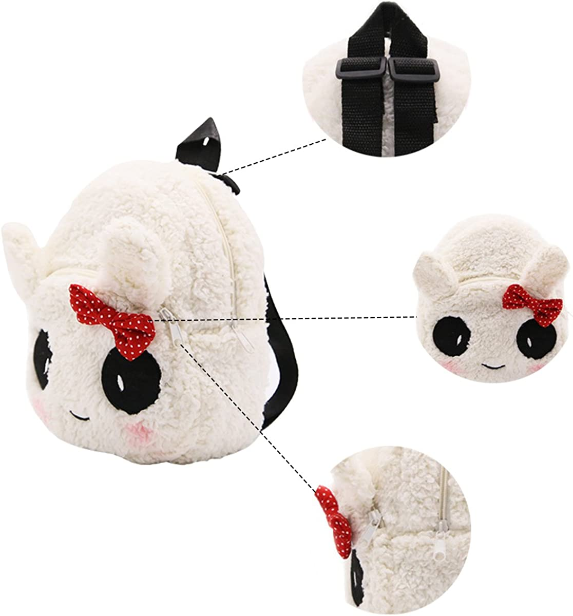 Evaliana Kindergarten Satchel Childrens Lunch Bag Panda Backpack Cute Plush Bags Kids