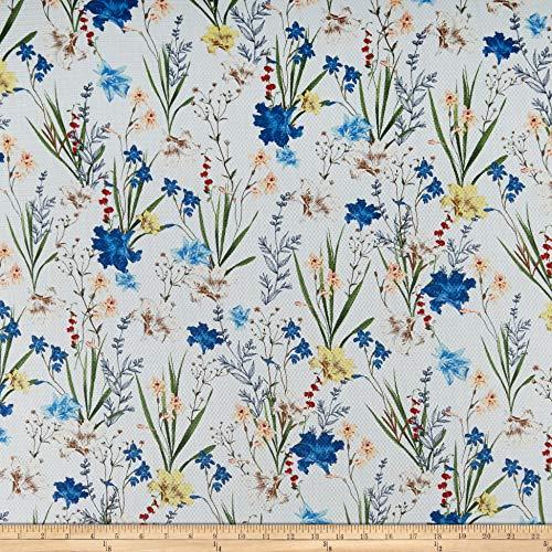 - Gucci Viscose Pique Digital Flora White Multi, Fabric by the Yard
