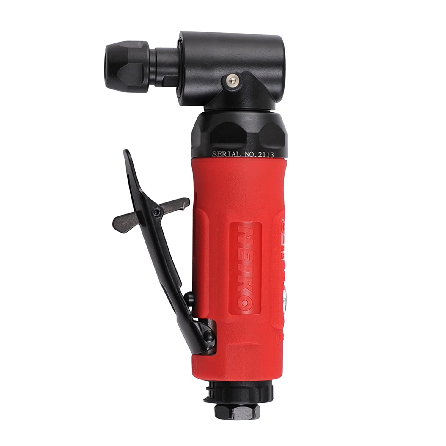 Neiko 30109B Mini Angle Die Grinder Rear Exhaust, 90 Degree 1 4 Collet Self Locking Safety Lever 90 PSI, 20000 RPM