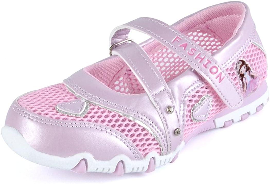 Kinder M/ädchen Sandalen Geschlossen Mesh Schuhe Rutschfest Atmungsaktiv Prinzessin Flach Kinderschuhe Fr/ühling Sommer