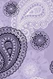 Small Hardbound Notebook - Violet Paisley, Delicious Stationery, 1415319146
