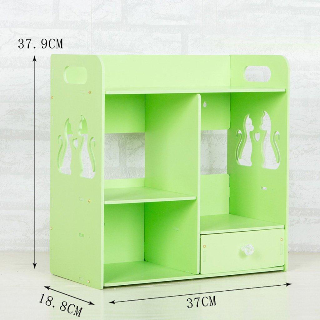 Unbekannt Badezimmer Kosmetik Aufbewahrungsbox Desktop Skin Care Waschen Tisch Toilettenartikel Badezimmer Regal Schublade Wasserdicht DIY (Farbe : Pink) LIGHTIG