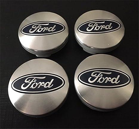4 x Ford Plata Azul Logo 54 mm Buje tapas Buje Tapa Tapacubos Llanta Tapa Cilindro ...