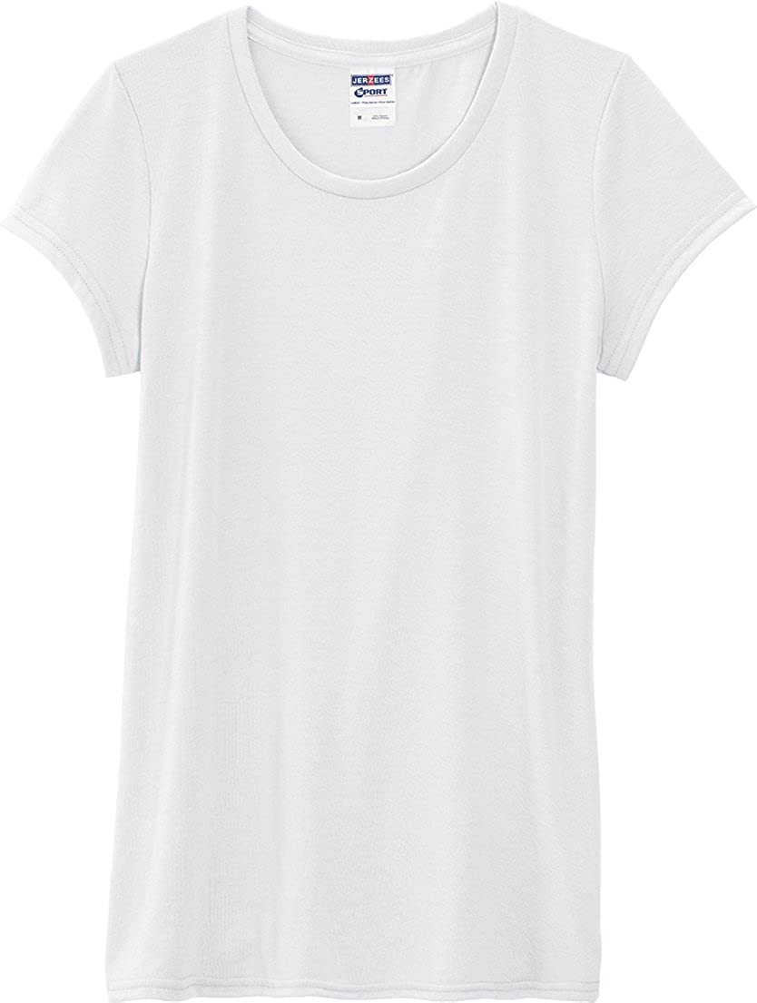 100/% Polyester Sport T-Shirt Polyester Jerzees 21WR Ladies 5.3 oz