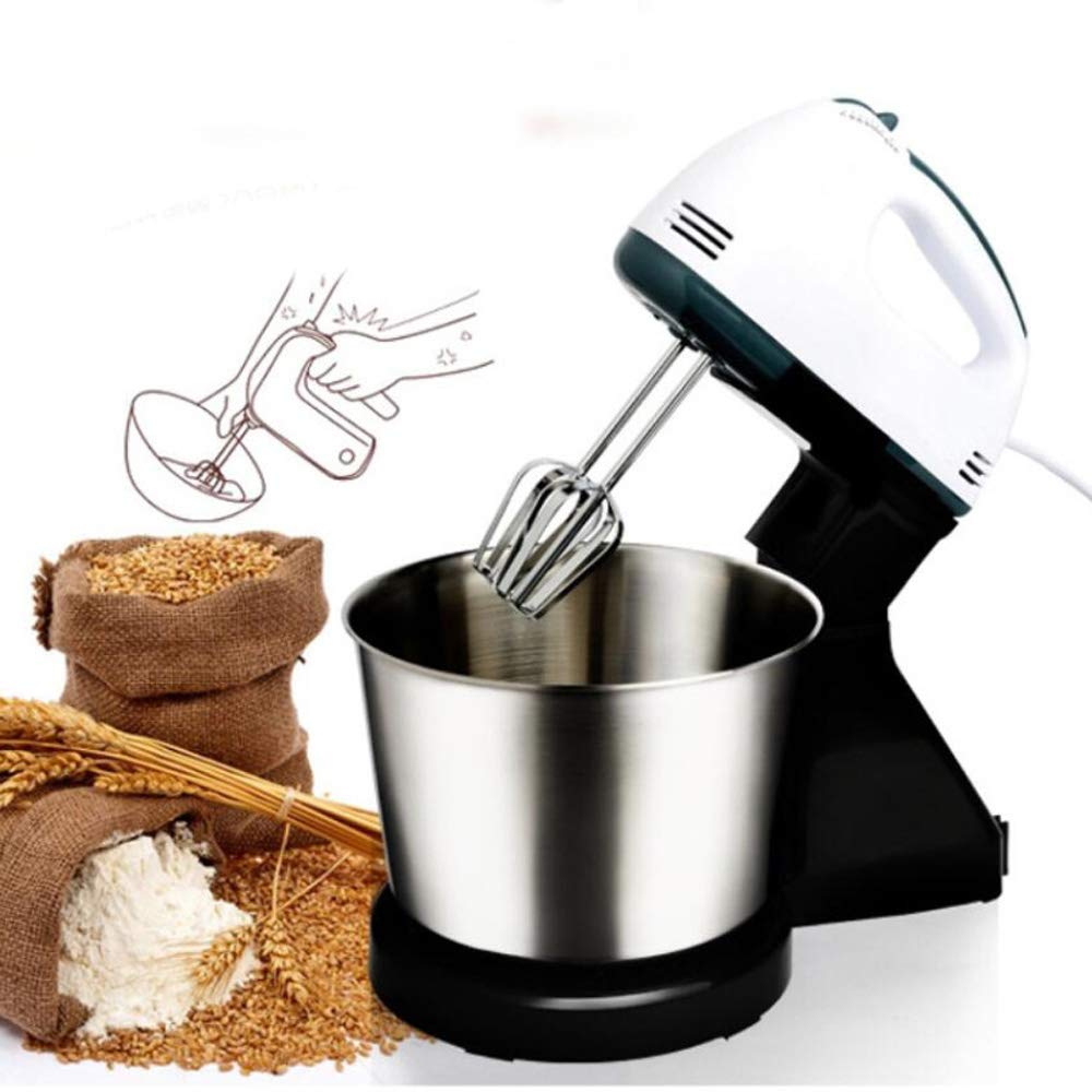 QWERTOUY 2 in 1 180W 7-Speed Kitchen Electric Stand Hand Mixer Whisk Blender for Bread Dough by QWERTOUY