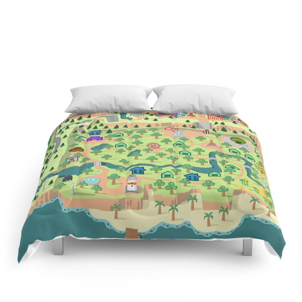 Society6 Animal Crossing (どうぶつの 森) Comforters Queen: 88'' x 88''