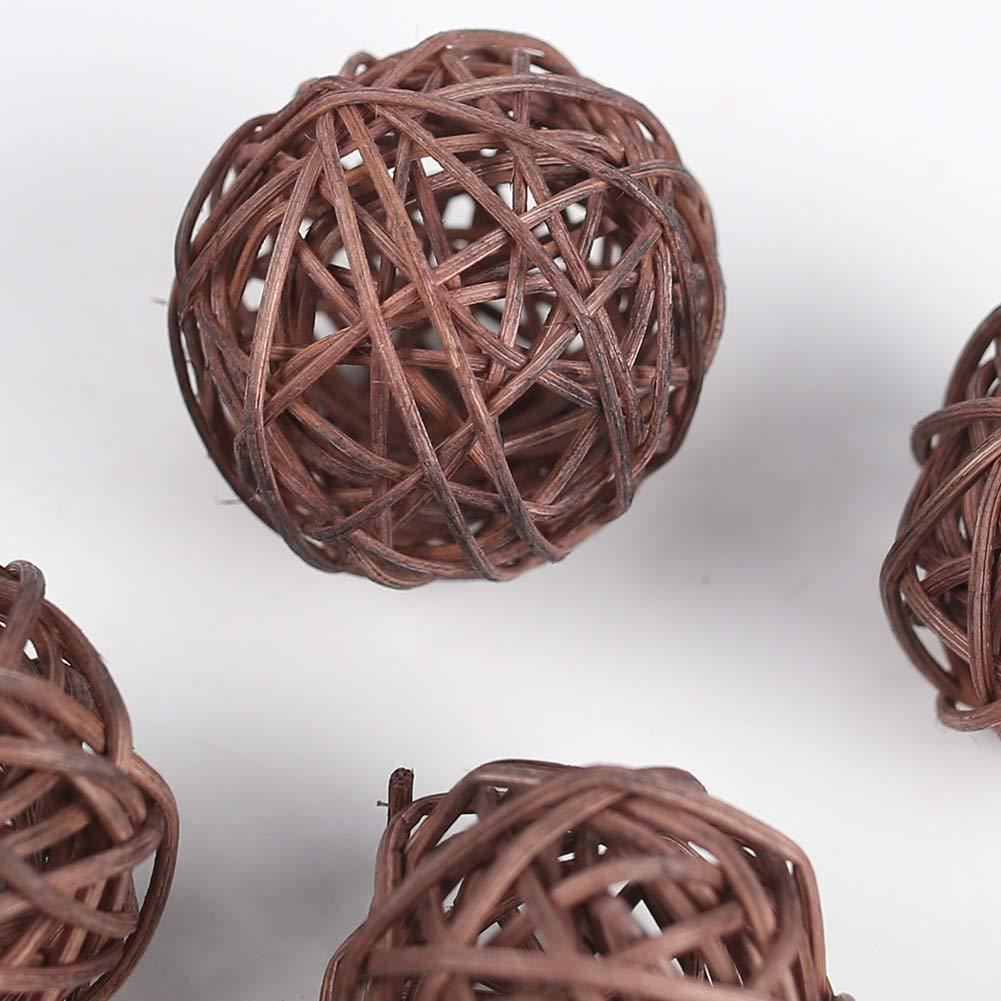 DomeStar Rattan Ball, 24PCS Orbs Vase Fillers
