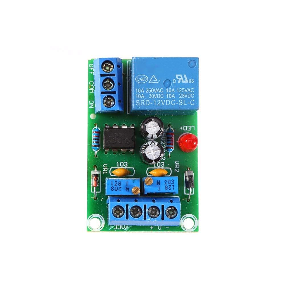 Topker 12V Chargeur Intelligent Module Contr/ôleur dalimentation Automatique Conseil Charge de la Batterie Interrupteur darr/êt