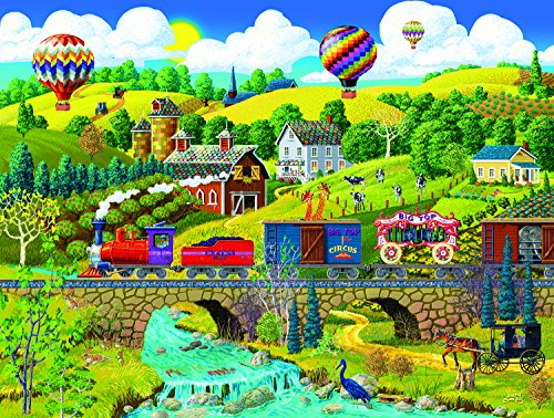 Big Top Circus Train 500 Piece Jigsaw Puzzle by SunsOut