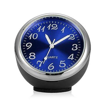 Heaviesk Mecánica del automóvil Reloj de Cuarzo Mini Reloj noctiluciente Reloj Digital en Car Mini Car Styling Kit: Amazon.es: Deportes y aire libre