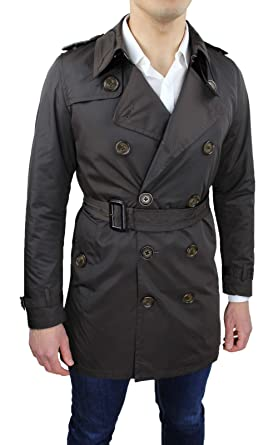 Ak collezioni Chaleco Trench Hombre Marrón Slim Fit Casual ...