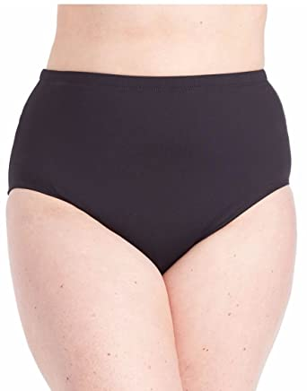 0c0085bfeb Image Unavailable. Image not available for. Color: RALPH LAUREN Women's Plus  Size Tummy Control High-Waist Bottom ...