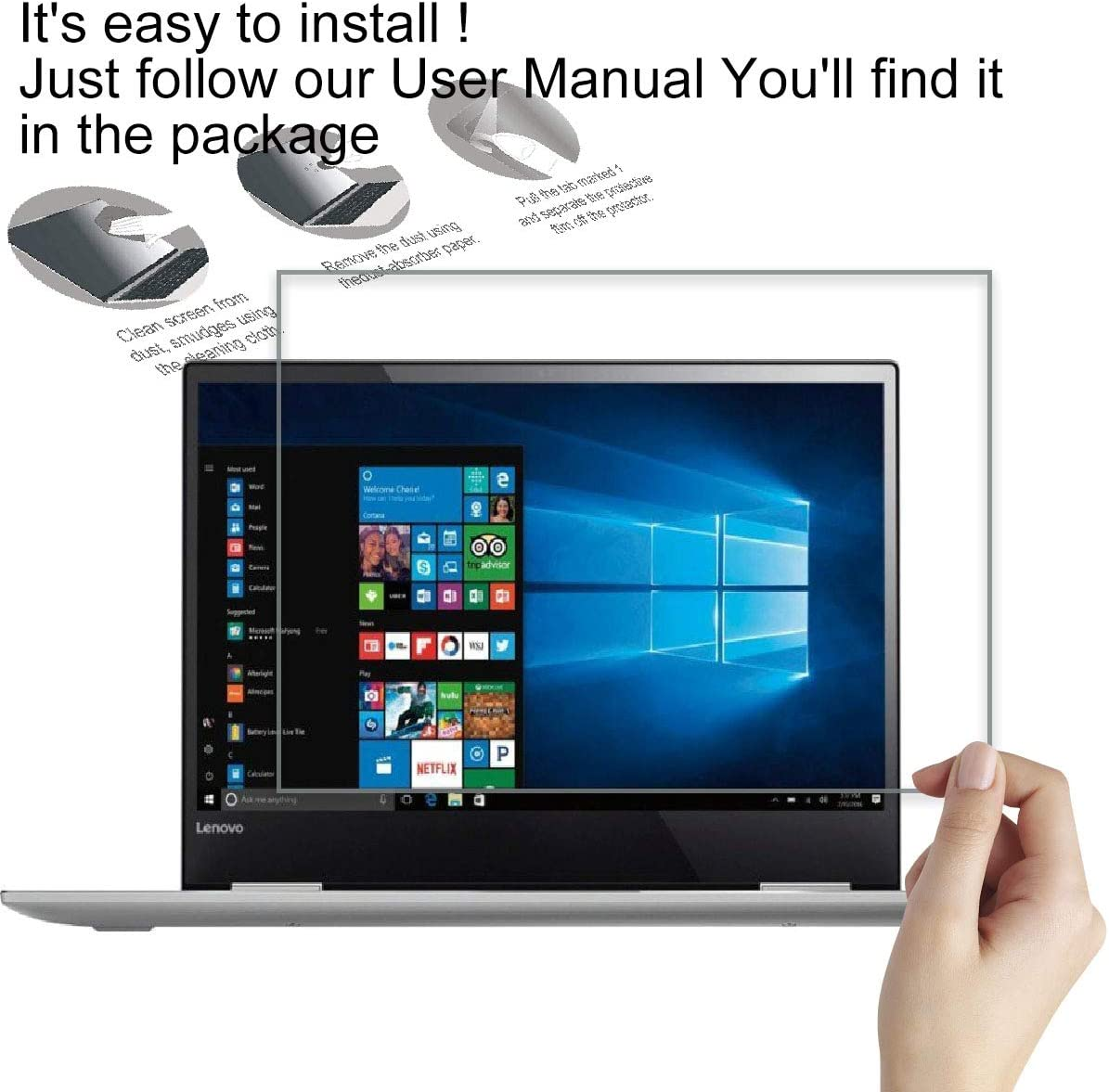 9H Anti Scratch Anti Fingerprint Glass Screen Shield Guard KEANBOLL Tempered Glass Screen Protector for 11.6 Inch Lenovo Ideapad 130S Ideapad 1 Not Fit Touch Screen