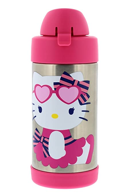 a93bd6b4dbd Thermos FUNtainer Vacuum Insulated Stainless Steel Kids Drinkware Bottle  with Straw, 10oz - Tasteless and Odorless, BPA Free, Portable & Great for  Children, ...