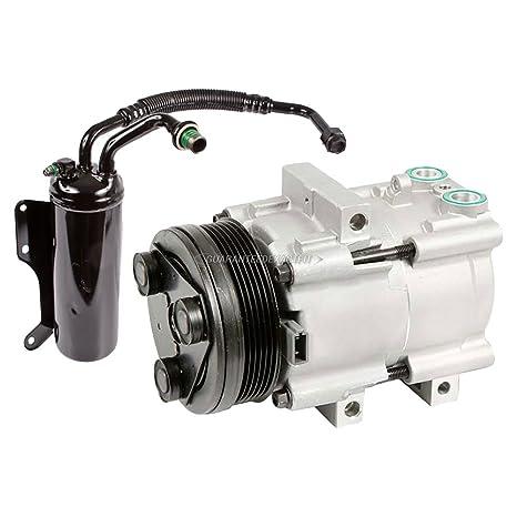 Premium calidad nueva AC Compresor y embrague con a/c secador para furgoneta Ford E
