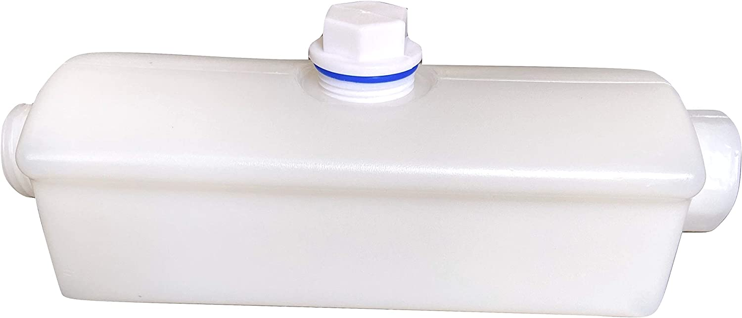 The Easiest Way to desinfect Your RV Fresh Water Tank RV Inline Sanitizer just Connect with The Hose and add Bleach no Messy no Moving Part