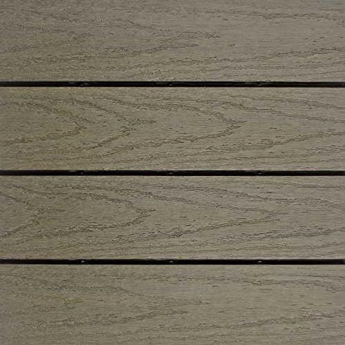 NewTechWood US-QD-ZX-ST Ultrashield Naturale Outdoor Composite Quick Deck Tile (10 Case), 1' x 1', Egyptian stone Gray (Tile Stone Outdoor)