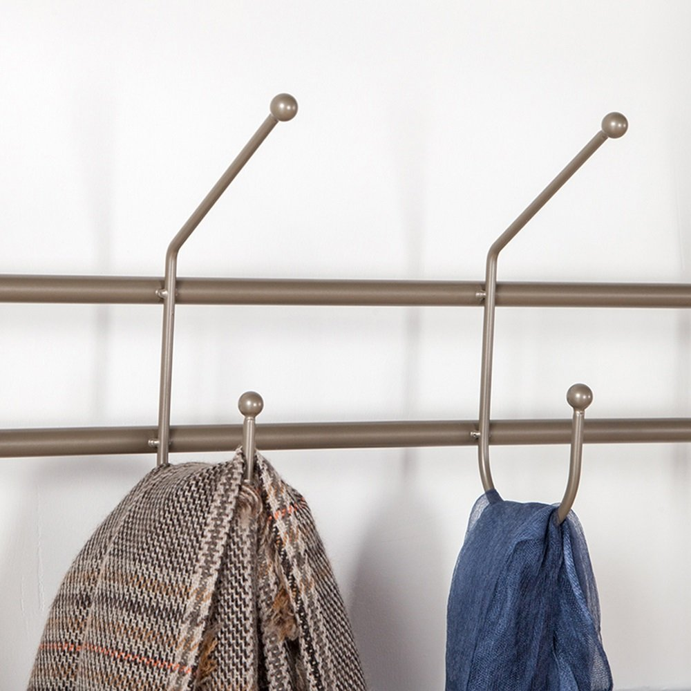 Gold Living Room Coat Rack / 4 hanging clothes hook coat rack/Multi-function Footwear Hanging Hanging Hanger / Creative Iron Hall / Metal Shelf (70 34 167cm)