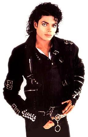 Deluxe Michael Jackson Jacket Adult Costume Bad Jacket (Black w/ Buckles) -  Large