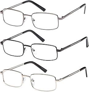 Reading Glasses 3X Stainless Flex 1.25 Readers