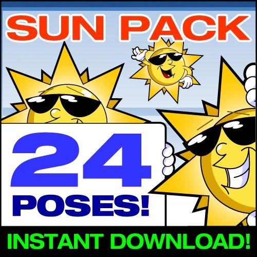 Cartoon Sun Clip Art - Cute Sun Mascot Stock Illustration! (Stock Photos Clipart)