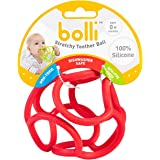 OgoBolli Teething Ring Tactile Sensory Ball Toy for Babies & Kids - Stretchy, Soft Non-Toxic Silicone - Ages 3 Months and up