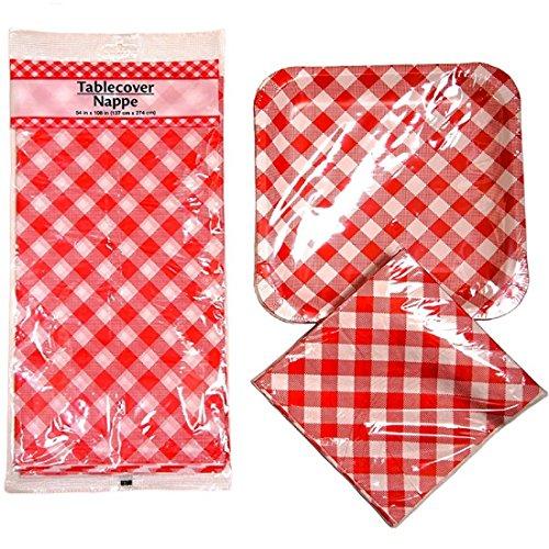 Picnic Set Checkered Square Paper Plates Napkin \u0026 Table .  sc 1 st  Nextag & Red and white gingham paper napkins | Compare Prices at Nextag
