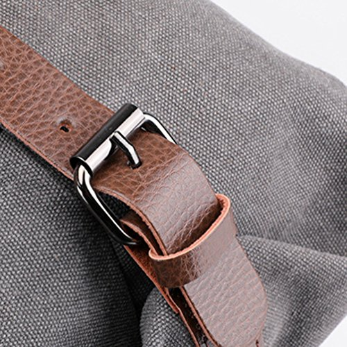 Crossbody Bag Shopper Vintage Gray Canvas Tote Handle Handbag Gray ZKOOO Handbags Large Top Womens Shoulder Bags Pz1vw1