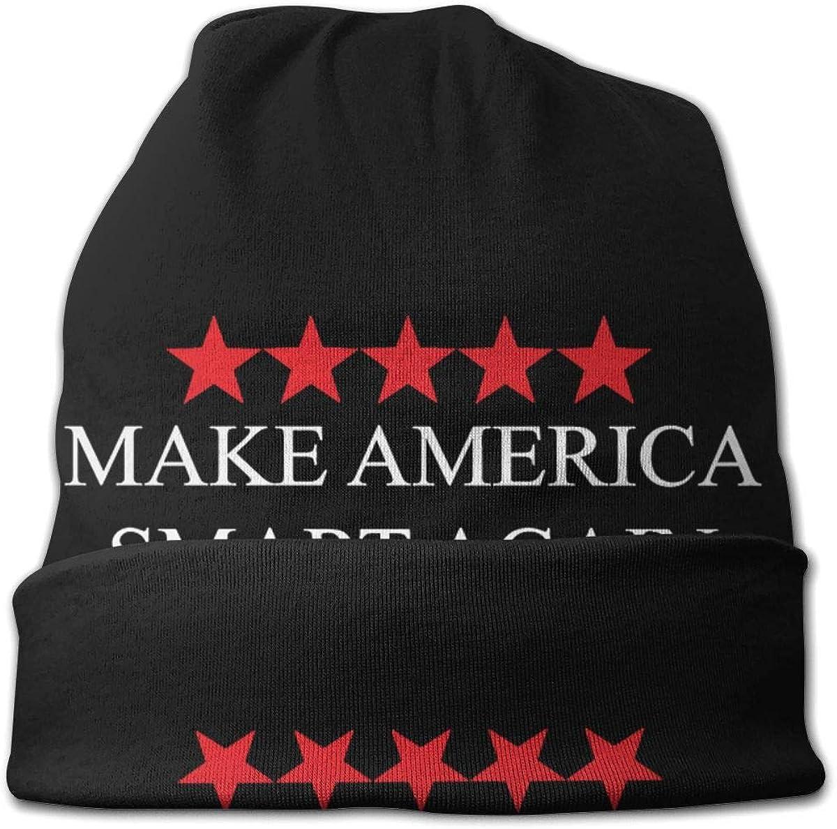 JINGUImao Make America Smart Again Unisex Warm Hat Knit Hat Skull Cap Beanies Cap