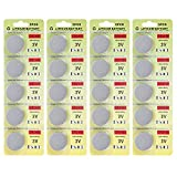 #5: Fortune CR2450 3 Volt Lithium Coin Battery - Retail Packaging (Pack of 20)
