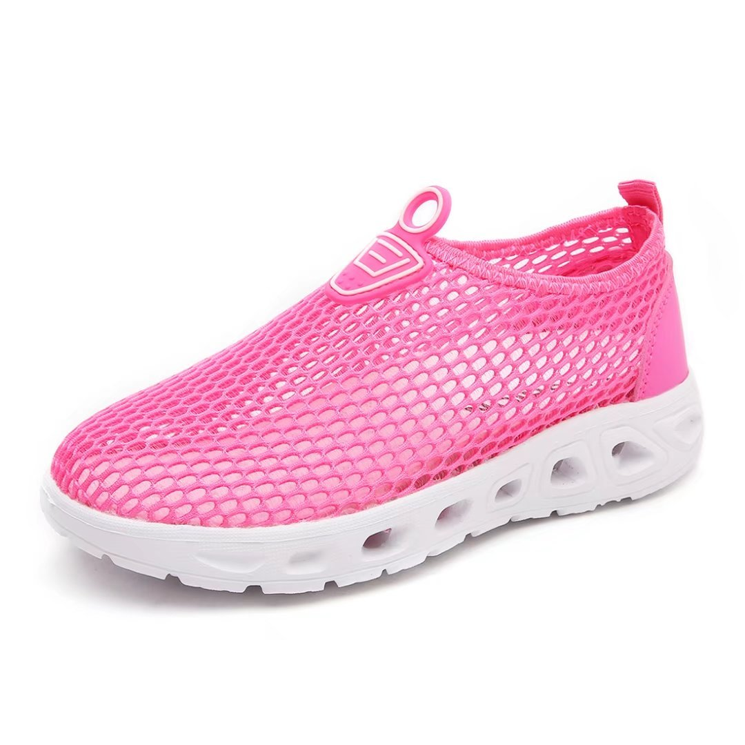 BODATU Girls Slip On Quick Drying Lightwegiht Mesh Breathable Water Shoes(Toddler/Little Kid/Big Kid)(36, Pink)