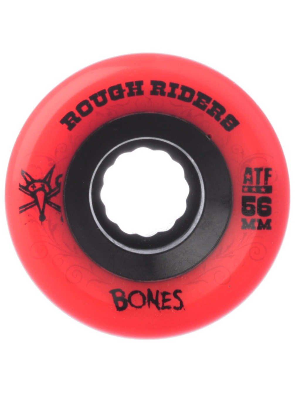 Bones Wheels Rough Riders 59mm Red Skateboard Wheels by Bones Wheels