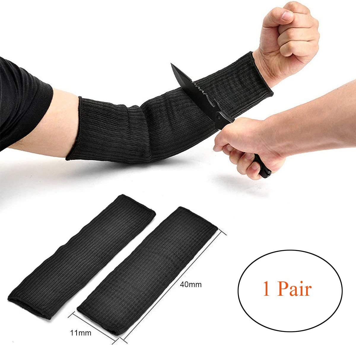 1 pair Outdoors Black Resistant Cut Arm Sleeve tector N9I5 Wire V0Q7 Covers T2N1