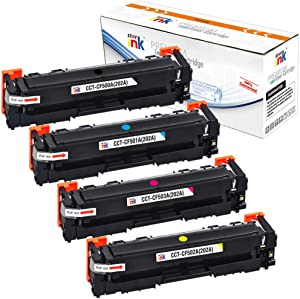 Starink 202A Compatible Toner Cartridge Replacement for HP CF500A CF501A CF502A CF503A Work with Laserjet Pro MFP M254dw M281fdw M281cdw M281dw M281fnw M280nw m254dn m254nw, 4 Packs