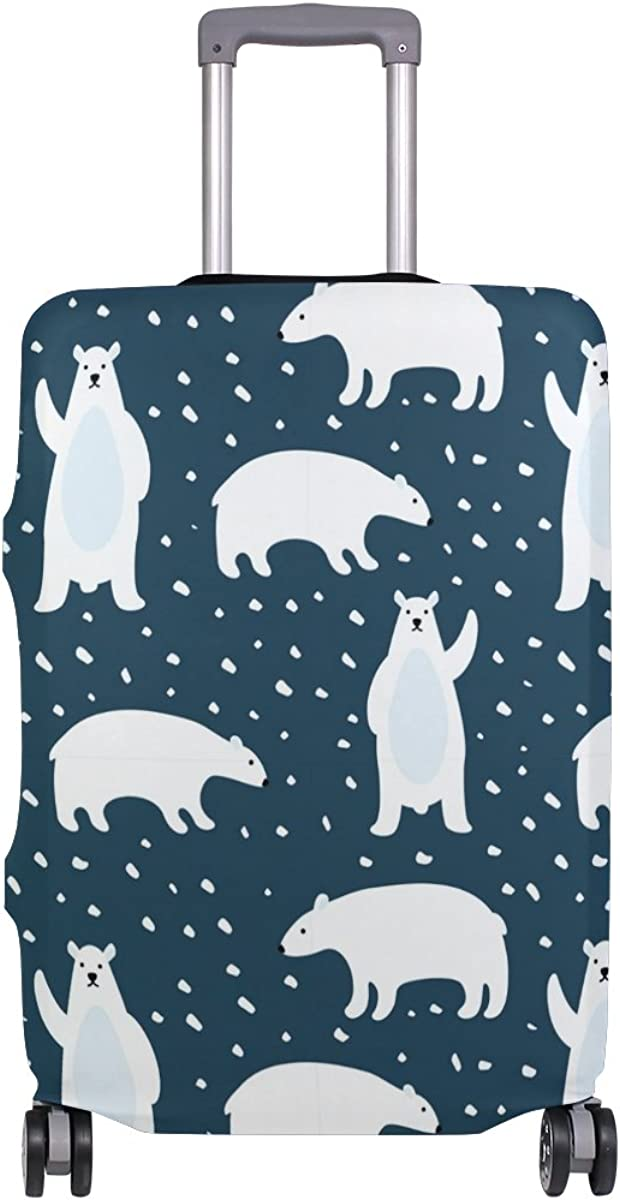 GIOVANIOR Polar Bears Luggage Cover Suitcase Protector Carry On Covers