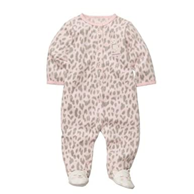 8f8f5ccfca Carter s Infant Girls Plush Pink Leopard Print Sleeper Daddy s Sweetie  Pajamas 3m