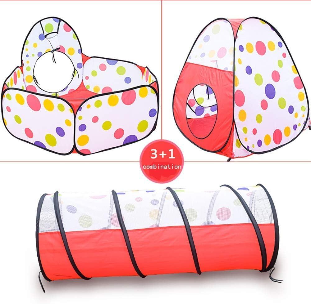 Children\'s Play Tent, met Tunnel Binnen/Buiten Play Cabin geschikt voor jongens en meisjes-lichtgewicht, eenvoudig te installeren, drie kleuren (3 delig),Blue Blue