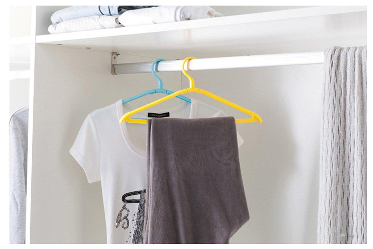 Pack de 8 Ropa secado percha estante plegable port/átil ligero pr/áctico para el hogar al aire libre Viajes al azar colores