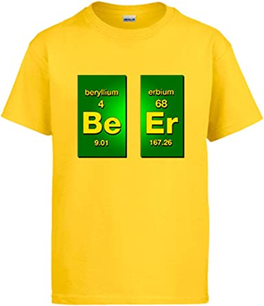 Camiseta Beer Cerveza Be Er Tabla periódica de los Elementos: Amazon.es: Ropa y accesorios