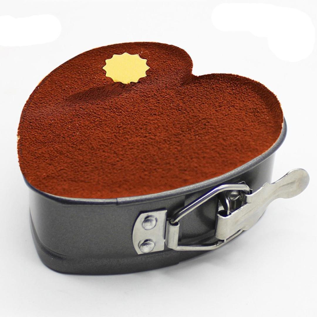 hkfv en forma de corazón para tarta Herramientas de moldeo Creative Amazing comodidad con Cake Shaping forma Loose Base Molde para hornear bandeja: ...