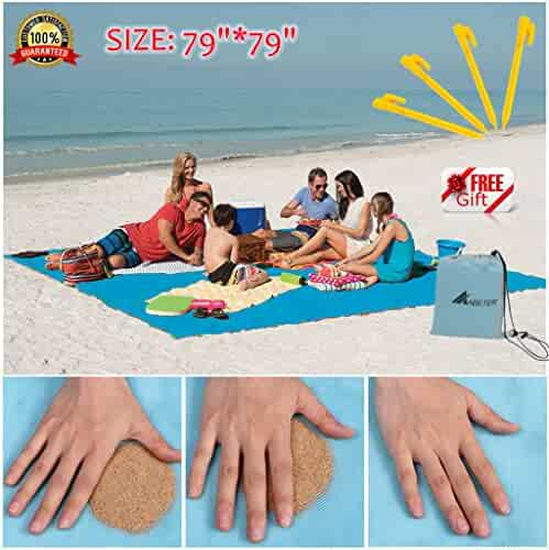 Sand Free Beach Mat Blanket Sand Proof Magic Sandless Outdoor Blanket Portable Picnic Mat Camping & Hiking Camping Mat