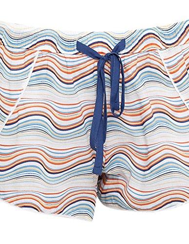 Cyberjammies 3260 Women's Bow Blue and Orange Spiral Print Cotton and Modal Pajama Sleepwear PJs Pyjama Short
