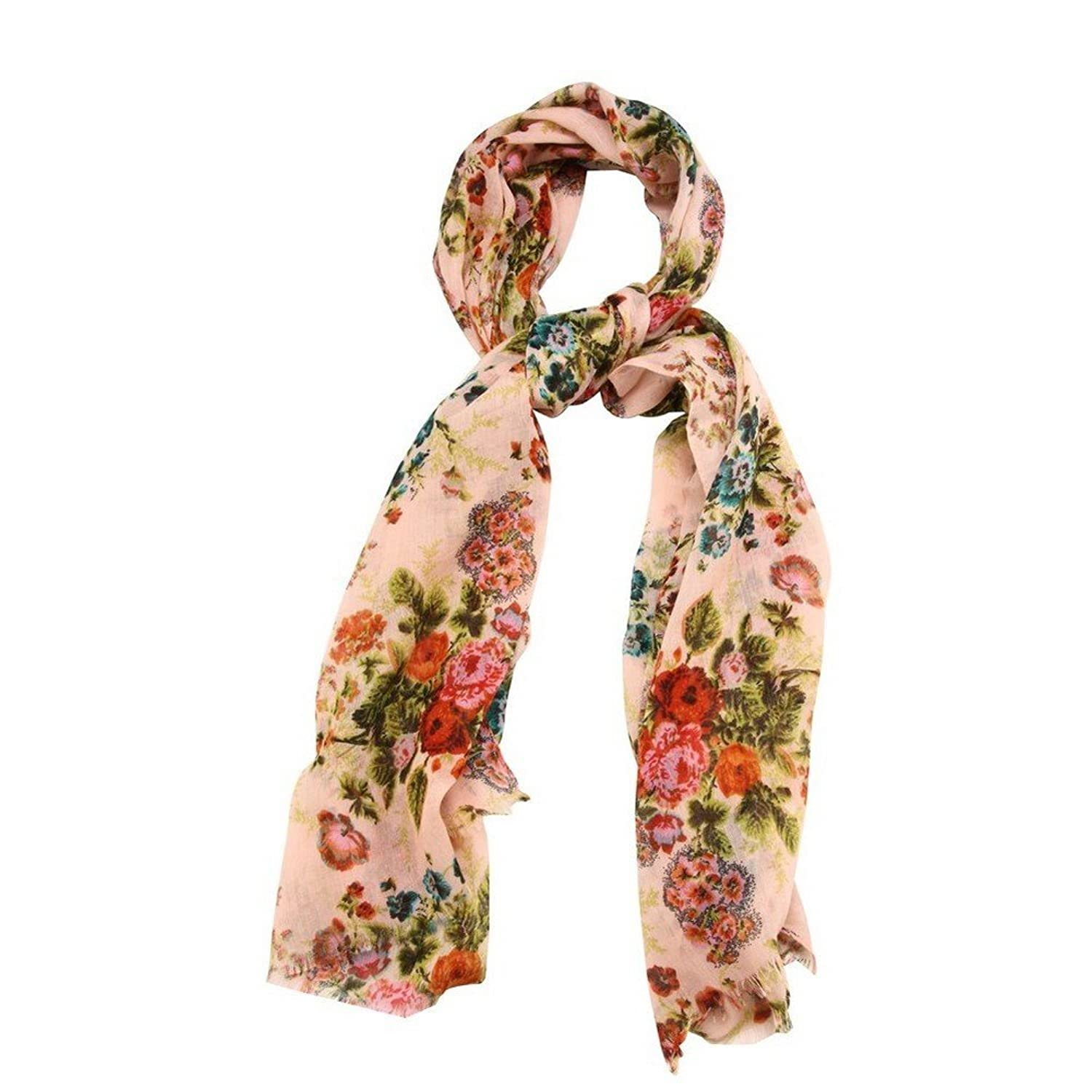 Scarf Vintage Floral Pink Made With Polyester by JOE COOL