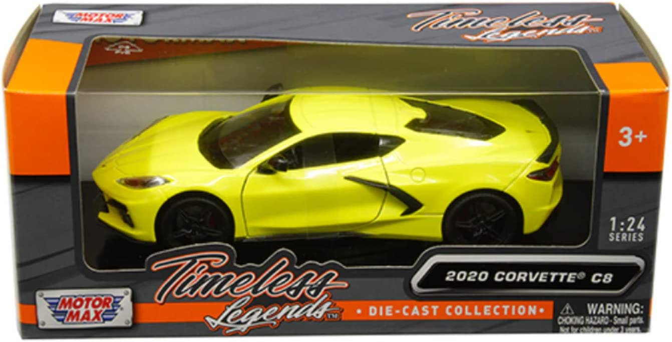 1979 Chevy Corvette Stingray Diecast Car 1:24 Motormax 8 inch Black NO BOX LOOSE