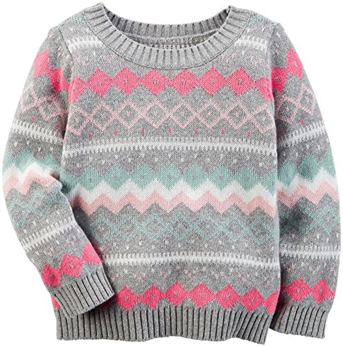 Carter's Girls' Sweater 273g626, Print, 8