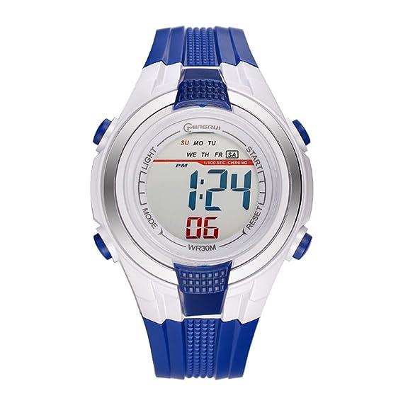 euimuo multifuncional Digital Cronógrafo niños reloj para niños: Amazon.es: Relojes