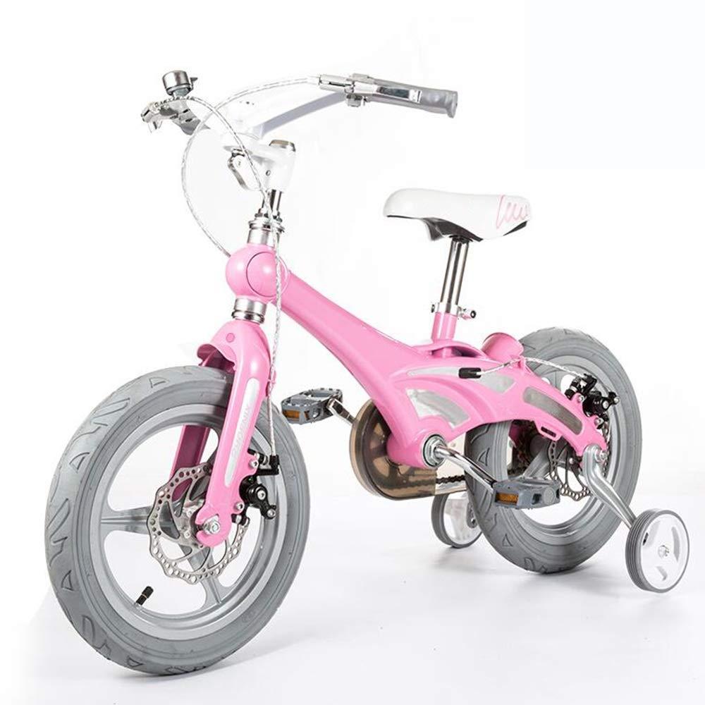 高質で安価 Axdwfd 子ども用自転車 キッズバイク B07P8MB3HP、子供用自転車トレーニングホイール12/14/16/インチ男の子と女の子のサイクリング 14in、子供に最適Aged2-8Pink 14in Pink Pink B07P8MB3HP, シゼム:a6e08d58 --- gfarquitetura.com