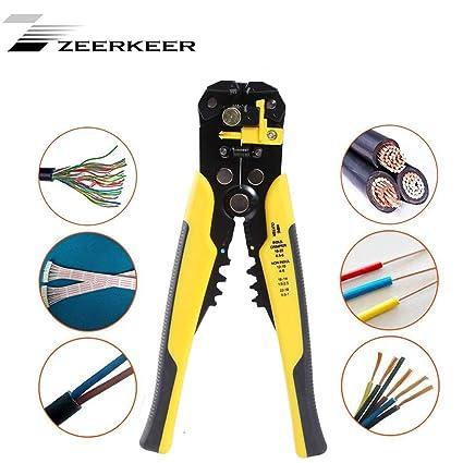 Zeerkeer Pelacables Profesional Alicates con Incluso llend cabeza y regulable de ajuste rápido para plano y