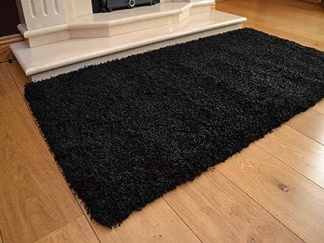 AQS alfombra Shaggy de grosor Plain suave y cálida no cobertizo moderno 5 cm de espesor