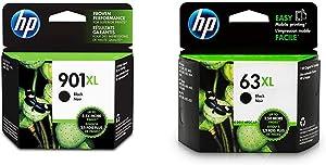HP 901XL | Ink Cartridge | Black | CC654AN & 63XL | Ink Cartridge | Black | F6U64AN